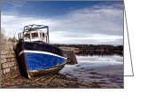 Unused Greeting Cards - Retired Boat Greeting Card by Olivier Le Queinec