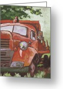 Wheels Greeting Cards - Retired Greeting Card by Sandy Tracey