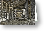 Old Chevrolet Truck Greeting Cards - Retired Greeting Card by Sari Sauls