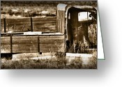 Post Card Greeting Cards - Retired Truck Greeting Card by Shane Bechler