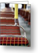 Revival Greeting Cards - Retro Bus Seats Greeting Card by Richard Newstead