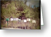 Revival Greeting Cards - Retro Mailboxes Greeting Card by Marcel ter Bekke