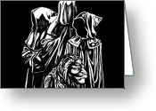 Greek Sculpture Greeting Cards - Return of the Jedi Greeting Card by Carey Davis