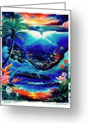 Spirit Rising Greeting Cards - Return to paradise Greeting Card by Sevan Thometz