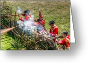Muskets Greeting Cards - Returning Fire Greeting Card by Robert Nelson