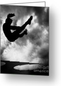 Silhouette Greeting Cards - Returning to Earth Greeting Card by Bob Orsillo