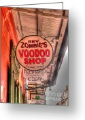 Louisiana Greeting Cards - Rev. Zombies Greeting Card by David Bearden
