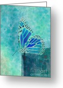 Collection Digital Art Greeting Cards - Reve de Papillon - s02a2 Greeting Card by Variance Collections
