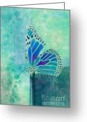 Collection Digital Art Greeting Cards - Reve de Papillon - s02b Greeting Card by Variance Collections