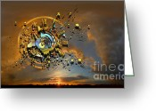 Sun Abstract Digital Art Greeting Cards - Revelation Greeting Card by Franziskus Pfleghart