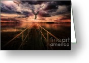 Judgement Day Greeting Cards - Revelation Greeting Card by Yhun Suarez