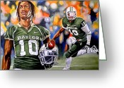 Football Painting Greeting Cards - Rg3 Greeting Card by Al  Molina