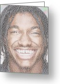 Qb Greeting Cards - RG3 Greatest Redskins Mosaic Greeting Card by Paul Van Scott