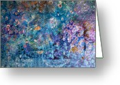 Chromatic Painting Greeting Cards - Rhapsody In Blue Greeting Card by Don  Wright