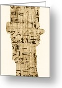 Historical Document Greeting Cards - Rhind Papyrus Greeting Card by Photo Researchers