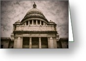 Cityhall Greeting Cards - Rhode Island Capitol Greeting Card by Lourry Legarde
