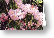 Beautiful Flowering Trees Greeting Cards - Rhodo Grove Greeting Card by David Lloyd Glover