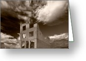 Nevada Greeting Cards - Rhyolite Nevada Ghost Town Greeting Card by Steve Gadomski