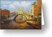 Most Photographed Photo Greeting Cards - Rialto Bridge Venice Greeting Card by David Rich