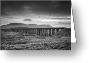 Train Greeting Cards - Ribblehead Viaduct Uk Greeting Card by Ian Barber