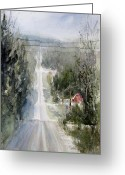 Petoskey Painting Greeting Cards - Ribbon of White Greeting Card by Sandra Strohschein