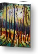 Expression Pastels Greeting Cards - Ribbons of Moonlight Greeting Card by John  Williams