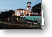Town Hall Greeting Cards - Ribeira Grande town hall Greeting Card by Gaspar Avila
