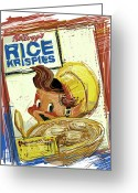 Elves Greeting Cards - Rice Krispies Greeting Card by Russell Pierce