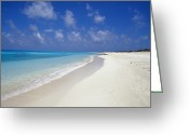 Tropical Island Photo Greeting Cards - Rich Turquoise Seas And Coral Reefs Greeting Card by Jason Edwards