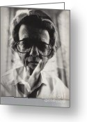 Photographers Ellipse Greeting Cards - Richard Avedon Greeting Card by Corky Willis Atlanta Photography