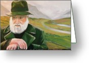 Co Galway Greeting Cards - Richard Harris In The Film Called The Field Greeting Card by Cathal O malley