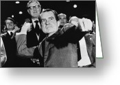 Ceremony Greeting Cards - Richard Nixon (1913-1994) Greeting Card by Granger
