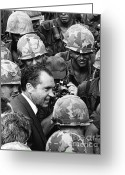 Nixon Greeting Cards - Richard Nixon, 37th American President Greeting Card by Photo Researchers