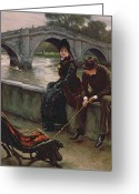 James Jacques Joseph Greeting Cards - Richmond Bridge Greeting Card by James Jacques Joseph Tissot