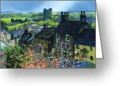 Rooves Painting Greeting Cards - Richmond Carnival in Frenchgate Greeting Card by Neil McBride
