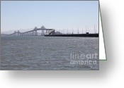 San Rafael Bridge Greeting Cards - Richmond-San Rafael Bridge in California - 5D18435 Greeting Card by Wingsdomain Art and Photography