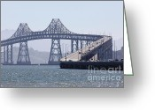 San Rafael Greeting Cards - Richmond-San Rafael Bridge in California - 5D18440 Greeting Card by Wingsdomain Art and Photography