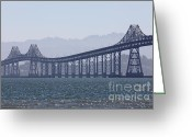 San Rafael Bridge Greeting Cards - Richmond-San Rafael Bridge in California - 5D18441 Greeting Card by Wingsdomain Art and Photography