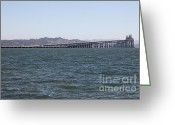 San Rafael Bridge Greeting Cards - Richmond-San Rafael Bridge in California - 5D18457 Greeting Card by Wingsdomain Art and Photography