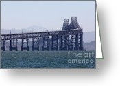 San Rafael Bridge Greeting Cards - Richmond-San Rafael Bridge in California - 5D18461 Greeting Card by Wingsdomain Art and Photography