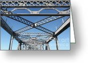 San Rafael Bridge Greeting Cards - Richmond-San Rafael Bridge in California - 5D19542 Greeting Card by Wingsdomain Art and Photography