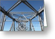 Steel Construction Greeting Cards - Richmond-San Rafael Bridge in California - 5D19549 Greeting Card by Wingsdomain Art and Photography