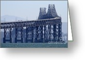 San Rafael Bridge Greeting Cards - Richmond-San Rafael Bridge in California - 7D18536 Greeting Card by Wingsdomain Art and Photography
