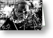 Rozay Greeting Cards - Rick Ross Greeting Card by The DigArtisT