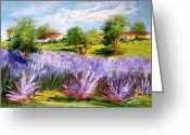 Ricordo Painting Greeting Cards - Ricordi di Provenza Greeting Card by Carla Colombo
