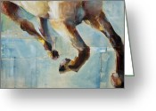 Running Horse Greeting Cards - Ride Like You Stole It Greeting Card by Frances Marino