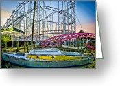 Amusement Parks Greeting Cards - Ride the WildCat Greeting Card by Colleen Kammerer