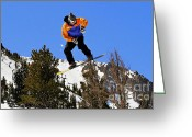Skiing Greeting Cards - Ride Utah Greeting Card by Christine Till