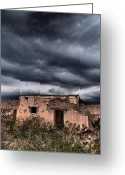 Adobe Architecture Greeting Cards - Riders of the Storm Greeting Card by Skip Hunt
