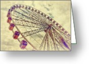 Wheel Greeting Cards - Riding High Greeting Card by Kathy Jennings